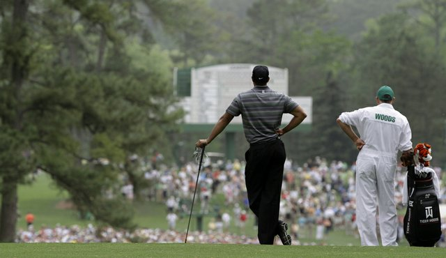 Tiger Woods waits to play a shot during the 2010 Masters. Augusta ...
