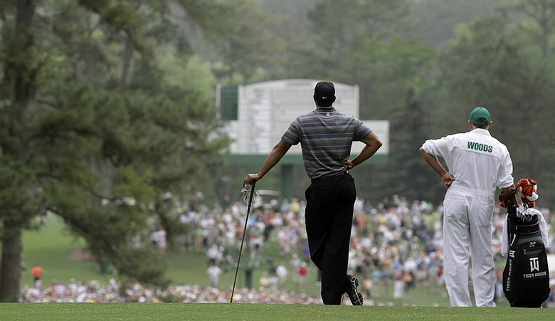 Tiger Woods waits to play a shot during the 2010 Masters. Augusta National will appear in the 2012 edition of the EA Sports Tiger Woods video game franchise.