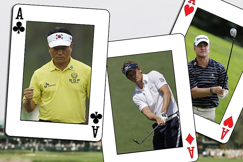 (From left to right) K.J. Choi, Luke Donald and Scott Verplank.