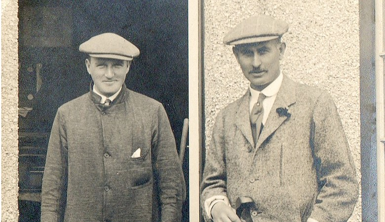 "J. Douglas Edgar (left) revered Harry Vardon, who said Edgar would be ""the greatest of us all."""