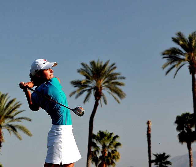 Lorena Ochoa during the third round of the 2010 Kraft Nabisco Championship.