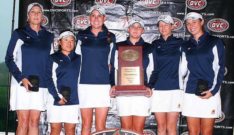 Murray State won its eighth Ohio Valley Conference title after the final nine holes was canceled Saturday.