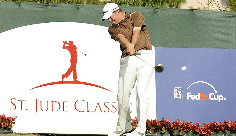 Bryce Molder tees off during the 2009 St. Jude Classic in Memphis.