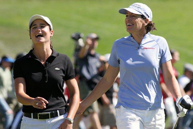 Lorena Ochoa and Juli Inkster during the 2007 Longs Drugs Challenge.