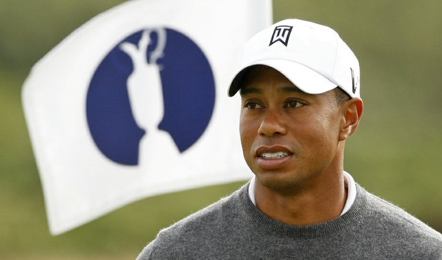 Tiger Woods at the 2009 British Open.