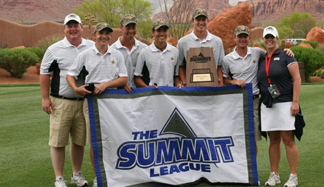 Oral Roberts after winning the Summit League Conference Championship.