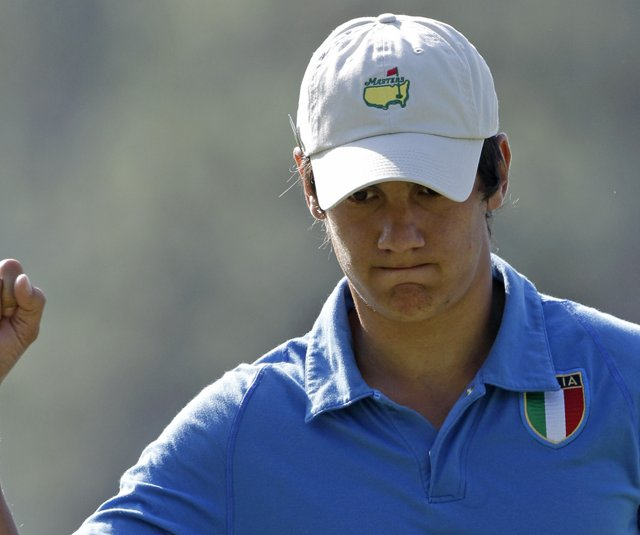Matteo Manassero at this year&#39;s Masters. 