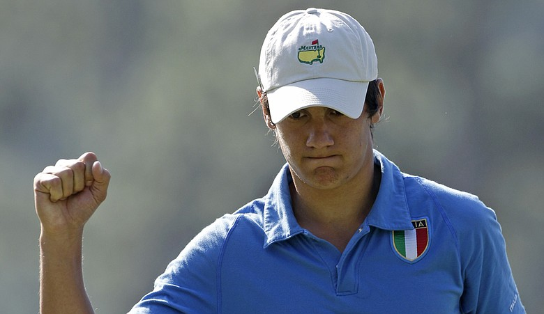 Matteo Manassero at this year's Masters.