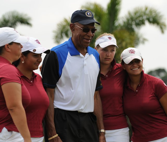 Bethune-Cookman celebrates after winning the PGA Minority Collegiate Golf Championship.