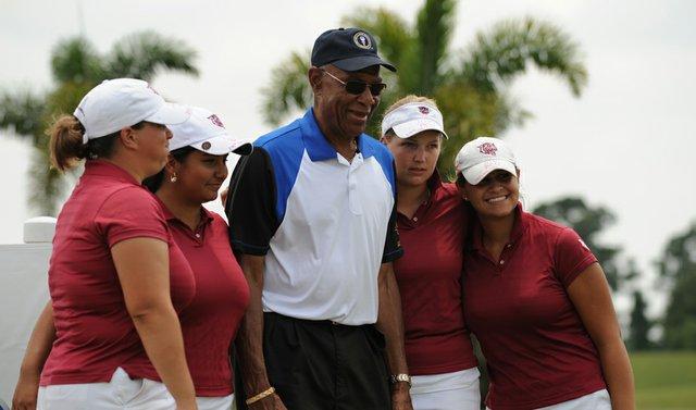 Bethune-Cookman celebrates after winning the PGA Minority Collegiate Golf Championship.