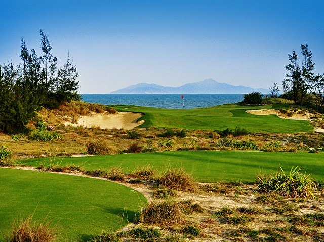 Greg Norman&#39;s new Dunes Course (No. 16 shown here) at Danang Golf Club in Vietnam. 