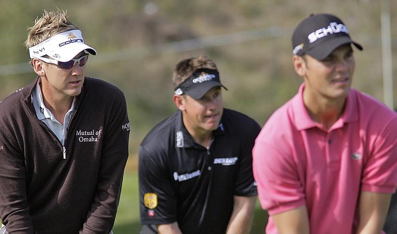 Ian Poulter, Lee Westwood and Martin Kaymer