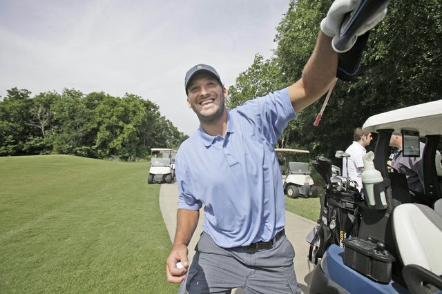 Tony Romo at the Dallas Cowboys annual sponsor appreciation golf outing in Grapevine, Texas, on May 12, 2010.