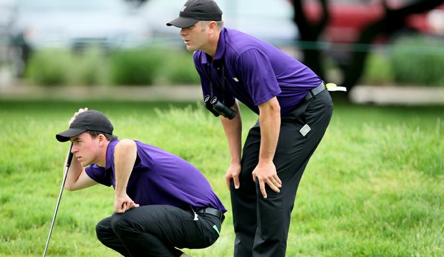 Hogan award winner Nick Taylor and Washington coach Matt Thurmond.