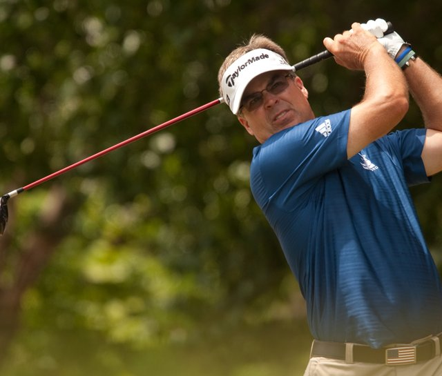 Kenny Perry during the fourth round of the HP Byron Nelson Championship on May 23.