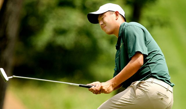 Oregon's Eugene Wong during the second round of the 2010 NCAA Championship.