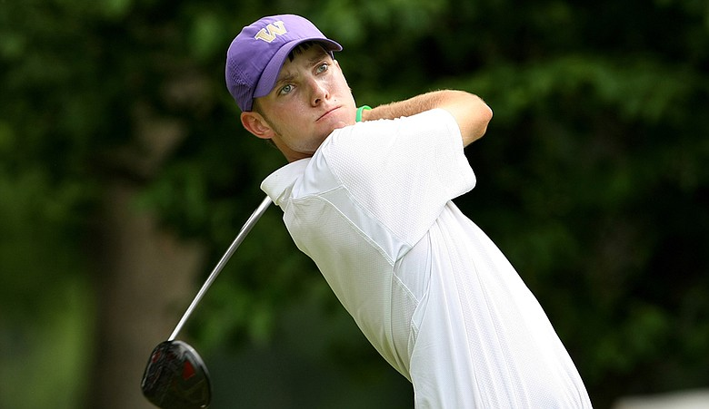 Washington's Chris Williams, shown during the 2010 NCAA Championship match-play quarterfinals, shot his second straight 66 to take a three-shot lead at the Western Amateur on Wednesday.