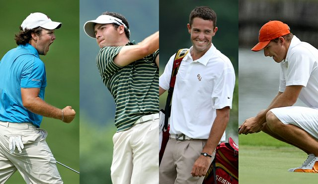 Augusta State's Patrick Reed, Oregon's Andrew Vijarro, Florida State's Seath Lauer and Oklahoma State's Morgan Hoffmann.