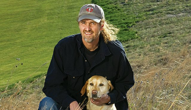 Paul Schock and his constant companion, Rylee.