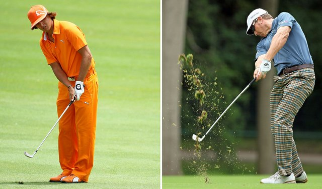 Rickie Fowler (left) and Ricky Barnes during the final round of The Memorial Tournament.