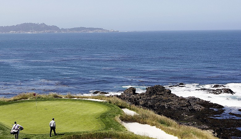 The seventh green at Pebble Beach Golf Links.