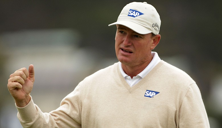 Ernie Els is part of a three-way tie for second place heading into weekend play at the U.S. Open.