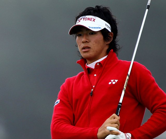 Ryo Ishikawa stuck a 4-iron to 5 feet at the 17th.