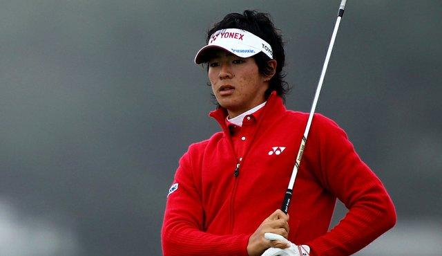 Ryo Ishikawa stuck a 4-iron to 5 feet at the 17th.