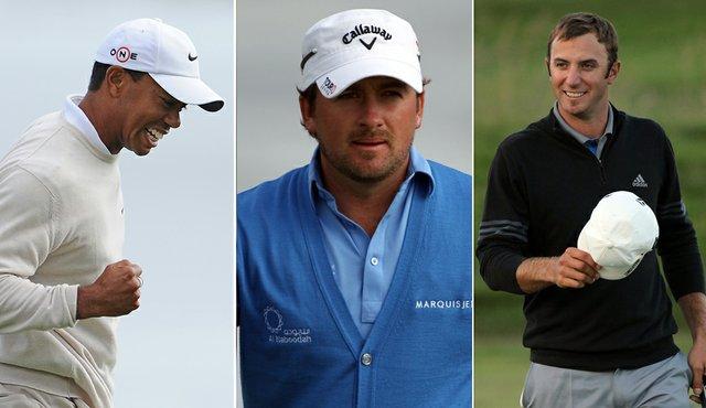 Tiger Woods, Graeme McDowell, Dustin Johnson
