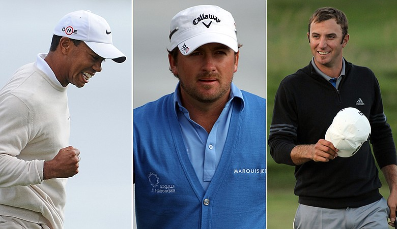 Tiger Woods, Graeme McDowell, Dustin Johnson