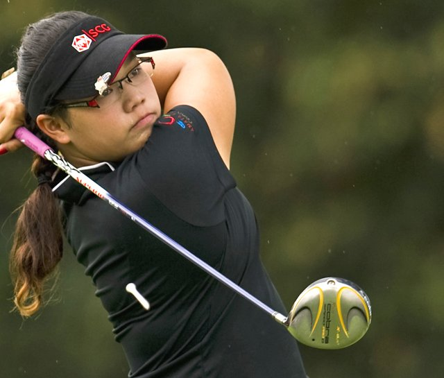 Ariya Jutanugarn during round the Honda PTT LPGA Thailand in February 2010.
