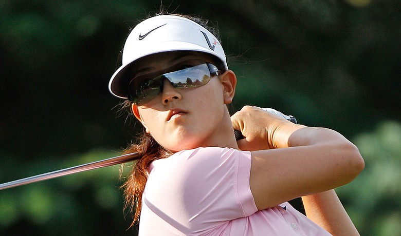 Michelle Wie during a practice round for the LPGA Championship.