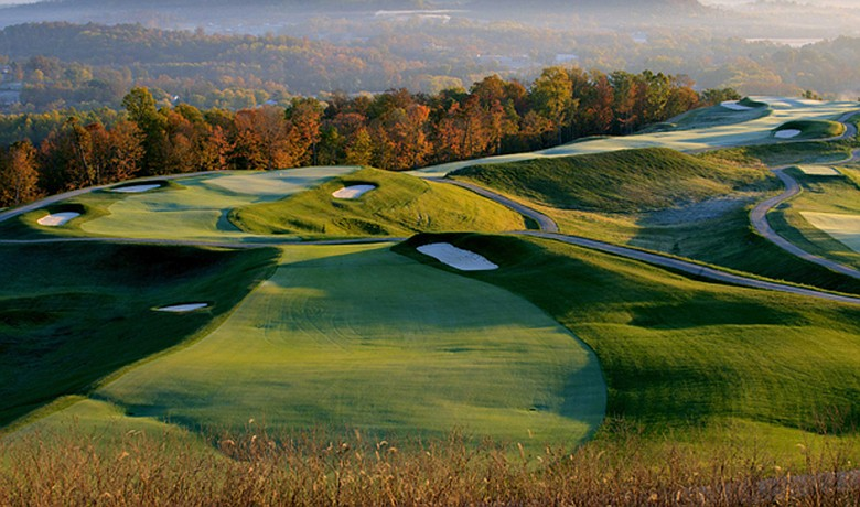 Nos. 11 and 12 at the Pete Dye Course at French Lick Resort in Indiana.
