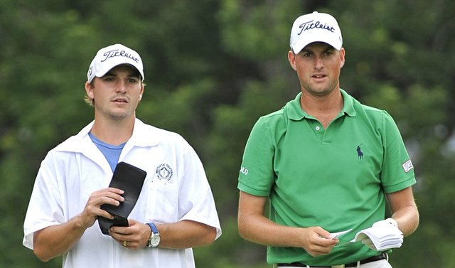 William Kane (left) and Webb Simpson at The Memorial.