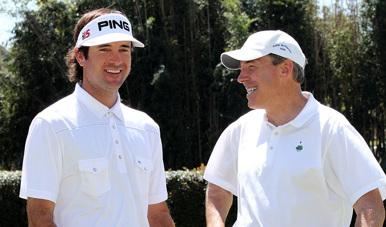 Mark Kent (right) and Bubba Watson