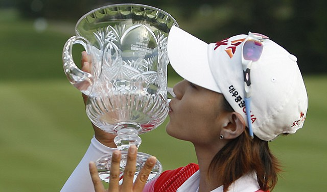 Na Yeon Choi of South Korea defeated Christina Kim, Song-Hee Kim and In-Kyung Kim on the second hole of a playoff during the final round of the LPGA Jamie Farr Owens Corning Classic, Sunday, July 4, 2010, in Sylvania, Ohio.