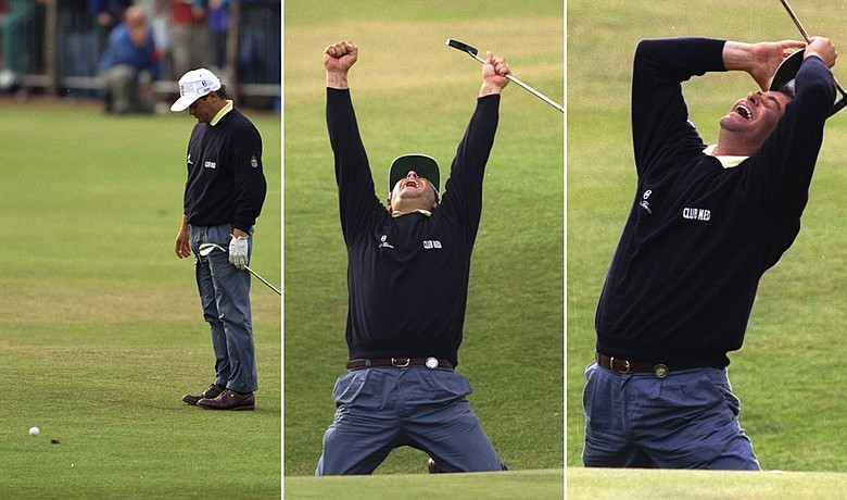 Constantino Rocco flubbed a chip on the 18th hole during the final round of the 1995 British Open, then holed an improbable 65-foot birdie putt to force a playoff.