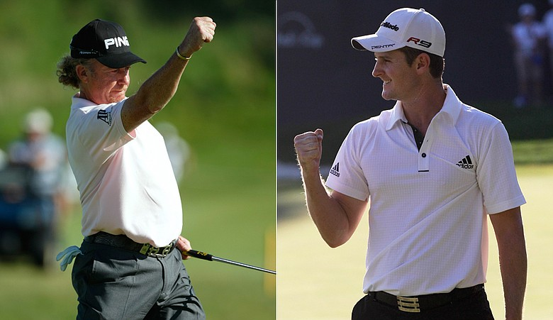 Miguel Angel Jimenez at the French Open, Justin Rose at the AT&T National.