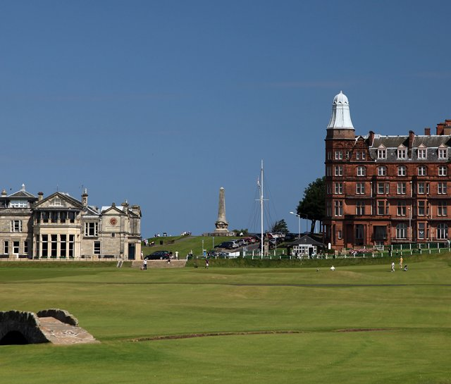 The 18th hole at St. Andrews.