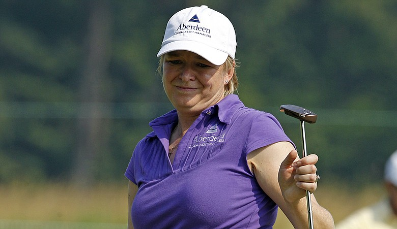 Mhairi McKay was one of the first players on the course for the first round of the U.S. Women's Open.