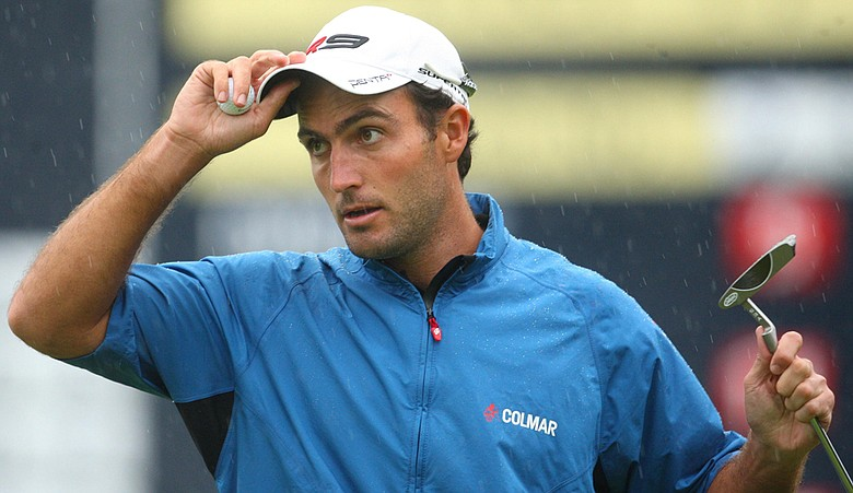 Edoardo Molinari during Round 3 of the Scottish Open.