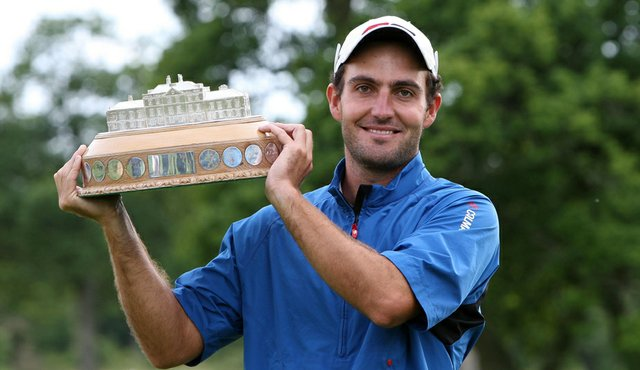Edoardo Molinari after winning the Scottish Open.