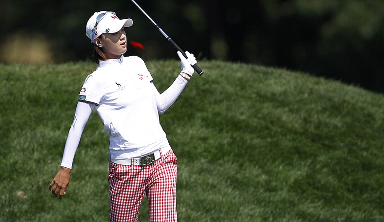 Na Yeon Choi plays a shot during the final round of the U.S. Women's Open.