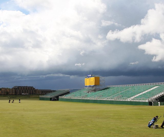 St. Andrews was the picture of calm as final preparations were made for the British Open.
