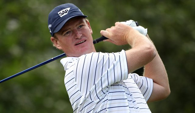 Ernie Els hits a shot at the J.P. McManus Invitational.
