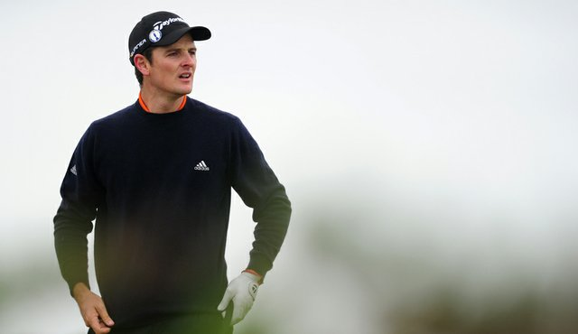 Justin Rose during a practice round at the Old Course.