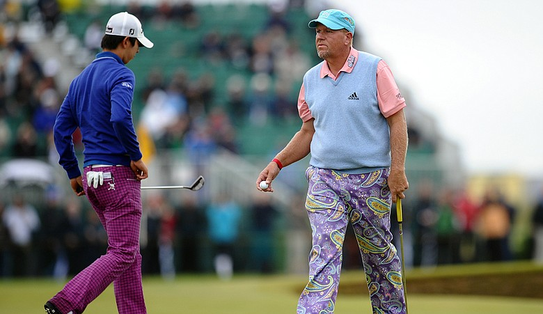 John Daly (right) during Round 1 of the British Open.
