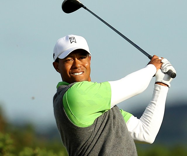 Tiger Woods during Round 2 of the British Open.