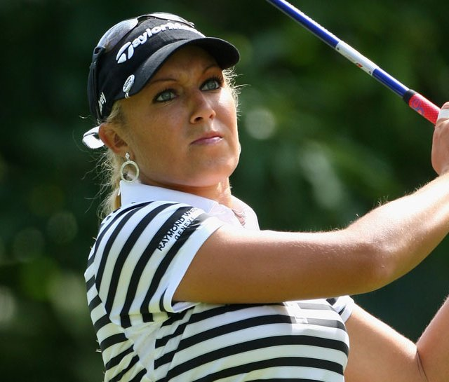 Natalie Gulbis during the 2008 Evian Masters.