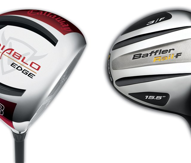 Callaway Diablo Edge (left) and Cobra Baffler Rail Fairway